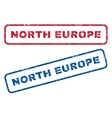 North Europe Rubber Stamps vector image vector image