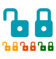 padlock lock icon flat symbols in modern colors vector image vector image