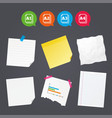 paper size standard icons document symbol vector image