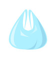 polythene bag for shopping vector image