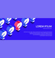 question banner isometric style vector image