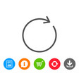 refresh line icon rotation arrow sign vector image