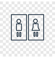 restroom concept linear icon isolated on vector image