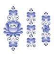 russian folk art pattern - gzhel ceramics style vector image