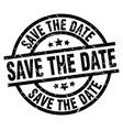 save the date round grunge black stamp vector image vector image