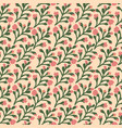 seamless floral pattern with tree branches and vector image vector image