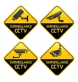 Security camera pictogram video surveillance set vector image