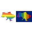 spectrum pixel dotted ukraine map with crimea vector image