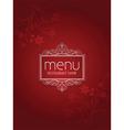 stylish menu design vector image vector image