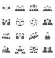 Teamwork Icons Black vector image