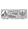the state banner of maryland the old line state vector image vector image