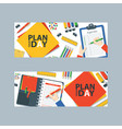 to do list or planning icon concept vector image vector image