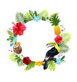 tropical flowers composition vector image vector image