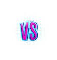 versus vs letters in flat retro comics style vector image