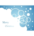christmas background snow flakes on blue vector image