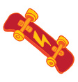 red skateboard vector image