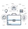 briefcase business office document accessory vector image