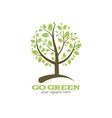 Go green tree logo vector image