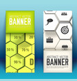 web business geometric vertical banners vector image