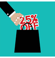 25 Percent Off vector image vector image