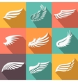 Abstract feather angel or bird wings icons set vector image vector image