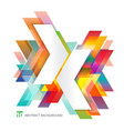 abstract template colorful arrows overlapping on vector image