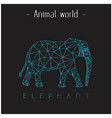animal world elephant polygon triangle elephant li vector image