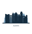 austin skyline monochrome silhouette vector image vector image