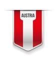 Austria flag ribbon vector image vector image