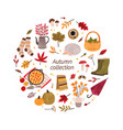autumn hand drawn collection vector image vector image