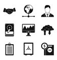 banking protection icons set simple style vector image vector image