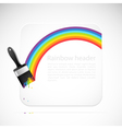 banner with rainbow brush vector image vector image