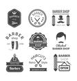 Barber Shop Emblems vector image