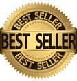 Best seller golden label vector image vector image