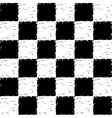 Black and white grunge checkered pattern vector image vector image