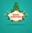 christmas banner with tree vector image vector image