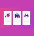 cloud gaming app interface template vector image