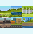 collection sceneries urban and natural vector image vector image