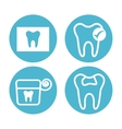 dental healthcare equipment flat icons vector image