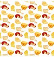 different types cheese seamless pattern vector image vector image