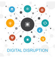 digital disruption trendy web concept with icons vector image