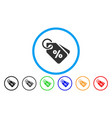 discount tags rounded icon vector image vector image