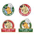 dog labels vector image vector image