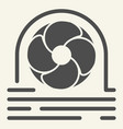 fan cooler solid icon blower vector image vector image