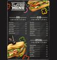 fast food sandwiches menu advertisement poster