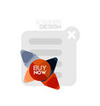 flat design triangle arrow shape geometric sticker vector image vector image
