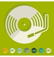 Flat design turntable vector image vector image