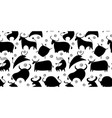 funny bulls collection lunar horoscope sign vector image vector image
