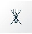 gluten free icon line symbol premium quality vector image
