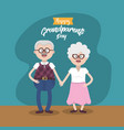 grandparent together with glasses and hairstyle vector image vector image